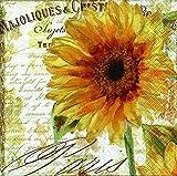 40 Lunch Serviette Sonnenblume (Sunbathing) Blumen Geburtstag Sommer Herbst