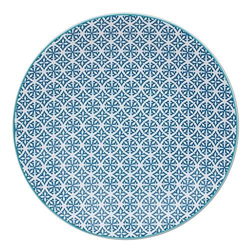 TABLE PASSION - ASSIETTE PLATE HELYSE 27CM BLEU (LOT DE 6)