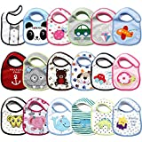 Baby Grow Newborn Printed Carters 1 Size Bibs, (Multicolour) - Pack of 3