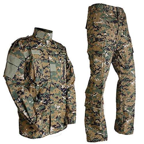USMC Woodland Marr putting green pixel EDR camouflage uniforme de combat haut et bas ensemble M (japon importation)