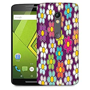 Snoogg Seamless Floral Pattern Flowers Texture Daisy Designer Protective Phone Back Case Cover For Moto G 3rd Generation