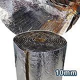 Motify-GT 10.76 Espace 10 mm Bouclier thermique thermique Isolation sonore Proofing Deadener Tapis de voiture de contrôle du bruit acoustique Réduction Moistureproof étanche (100 x 100 cm)...