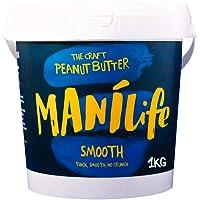 ManiLife Beurre de Cacahuète - Peanut Butter - Entièrement Naturel, d'Origine Unique, sans Sucre Ajouté, sans Huile de Palme – Originale Crémeux (1 x 1kg)