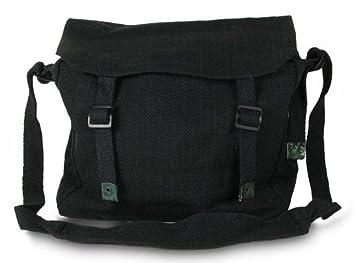 Large Military Style Messenger Bag Black Haversack: Amazon.co.uk ...