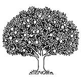 Feinkontur-Stempel, 15 x 15 cm, Baum | Scrapbooking, Handwerk, Heimwerk, DIY, Grußkartengestaltung