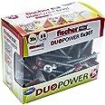 Fischer Taco DuoPower T (Box pluggen + 30 schroeven), 536390, grijs/rood, 6x30 S