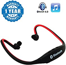 captcha MPBL-020 Wireless Bluetooth Sports MP3 Player with FM/MicroSD Card Slot Functions for all Android or Iphone Devices (Colour May Vary)