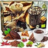 C&T BIO Trinkschokolade-Adventskalender 2019 NEU mit 2x12 Sorten feinstem Schokoladenpulver aus ökologischem Anbau - Kakao genießen - Weihnachts-Kalender mit Kakaospezialitäten zum selber machen