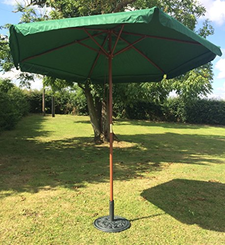 green-27m-parasol-garden-patio-umbrella-hardwood-6-ribs-finial-valance