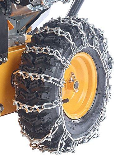 AGT Universelle Schneeketten für motorgetriebene Schneefräse, 1 Paar