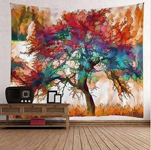 Wandbehang Tapisserie Mandala Druck Tapestry Psychedelic Tapisserie Wandteppich Home Wall Decor Aquarell Kunstbaum