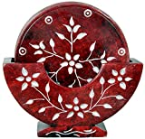 #4: Genius Bird Tea Coaster Set - Marble