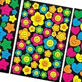 """Aufkleber """"Lustige Gesichter"""" in Neonfarben für Kinder Zum Dekorieren von Bastelprojekten und Frühlingskarten (258 Stück)"""