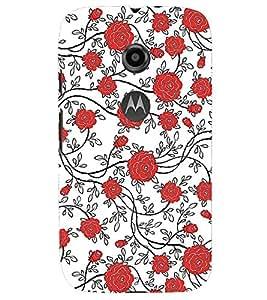 PRINTSWAG FLOWERS Designer Back Cover Case for MOTOROLA MOTO E2