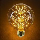 4 Pack Vintage Illuminazione, VSOAIR LED con 3W G95 Vintage Edison D'artificio Dimmerabile Lampadina Illumina il Bianco Caldo 2200K