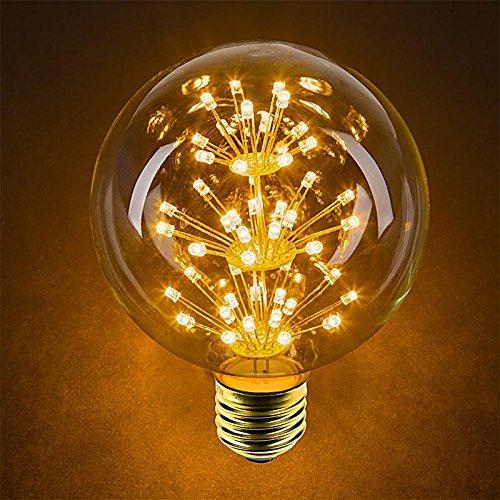 4 Packung Vintage Beleuchtung, VSOAIR LED-Birnen mit 3W G95 Weinlese-Edison-Feuerwerk-dimmable Birnen-Beleuchtung-warmem Weiß 2200K