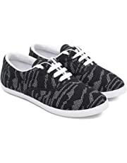 ASIAN Women's Blush-21 Navy Pink Canvas Shoes,Sneakers,Loafers, Fabric Walking Shoes