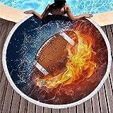 Rundes Strandtuch zum Sonnenbaden, tragbare Picknickdecke, stilvolle Yogamatte, Tischdecke, Sporttuch, A11, 150 * 150cm