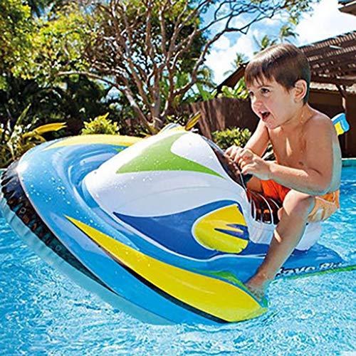 ToDIDAF Schwimmbad schwimmt für Kinder, Schwimmbadzubehör, Cartoon-Schwimmring, Wasser aufblasbares Spielzeug, schwimmendes Bett, geeignet für Sommerurlaub / Poolparty / Reisen (Schnellboot) -