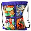 PLANTS VS. ZOMBIES Picture Panels Drawstring Gymbag (Blue)
