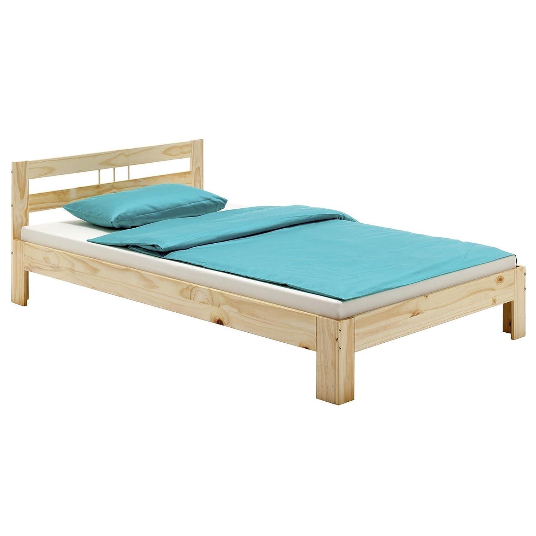 Massivholzbett theo jugendbett bettgestell einzelbett mit kopfteil ...