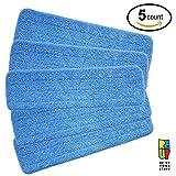 Testine di ricambio in microfibra per mocio asciutto o bagnato compatibili con il sistema Bona Floor Care (5 pezzi)