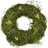 Kranz Natural Deko Gras grün Tischdeko Frühjahr Ostern (21x21x5cm)