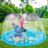 Leeko Splash Pad, Sprinkler Play Matte, Wasserspielzeug spielmatte Outdoor Sommer Garten...