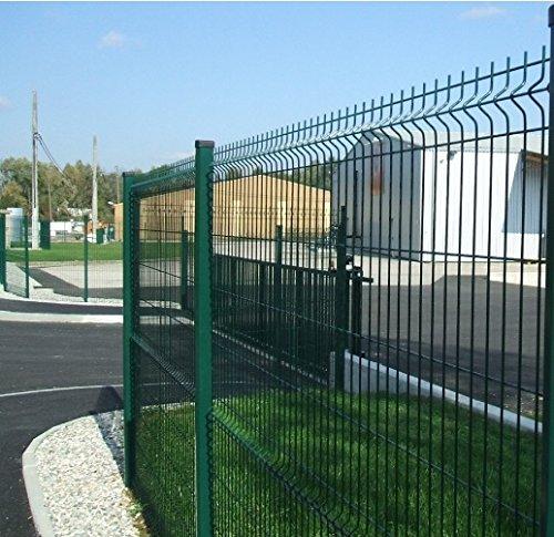*2309 Mattenzaun-Paneel, Modulbauweise, elektroverschweißtes Metallgitter, Gr. Medium, Grün, 200 x Höhe 102 cm*