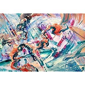 Abstrakt Karton Wohnzimmer Bilder Wand Bilder Bilder Büro Bild groß Gemälde Kunst Wanddekoration Graphik Karton Handmade Bilder Exclusiv Bild A4 Original Geschenk Weihnachtsgeschenk Unikat