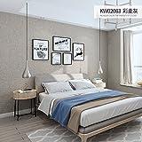 AZZJWarme Schlafzimmer Moderne Einfach Wohnzimmer - Tv Hintergrund Wand, Schlicht Wand Tuch, Reine Grau, Grau, 3D - Solide Tapete,Farbige Weizen Asche