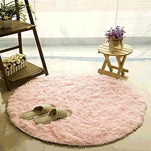 Teppich CAMAL Runde Seide Wolle Material Yoga Fur Wohnzimmer Schlafzimmer Und Bad 120cm