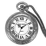 JewelryWe Bobina eléctrica encendedor recargable por USB resistente al viento sin llama mechero reloj de bolsillo