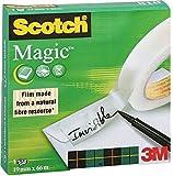 Scotch FT510005653 Ruban adhésif invisible en boîte individuelle 19 x 66 mm Lot de 12