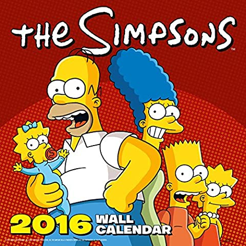 Calendrier Chinois 2016 - The Official the Simpsons 2016 Square
