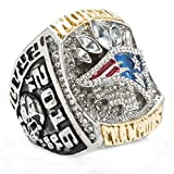 LANCHENEL Titan Stahl Herren 2016 New England Patriots Meisterschaft Ringe,Größe 72(22.9)