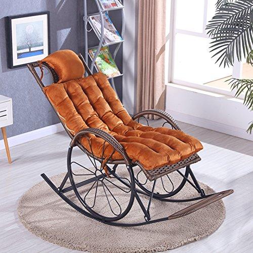 Coussins inclinables d'automne et d'hiver, coussins de chaise de secousse de vieil homme de garniture, épaississez les coussins chauds de chaise, coussins de canapé(y compris les nattes seulement)-P 125cm*48cm