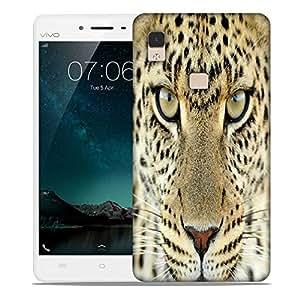 Snoogg Tanzania Leopard Designer Protective Phone Back Case Cover For Vivo V3 Max