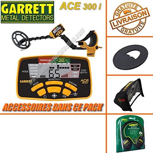GarrettACE 300I –Detector de metales con 3Accesorios (incluye auriculares, protector del disco, funda protectora para la lluvia)