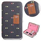 """Bonice Premium Multifunzionale [Grande capacità] Smartphone Wristlet Case Cover Bumper Caso Specifica: * Materiale: Cuoio dell'unità di elaborazione * Dimensioni: 7.28 """"x 4.13"""" x 1.1 """"(18.5cm x 10.5cm x 2.8cm) * Colore: Come imm..."""