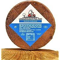 Queso de oveja curado gourmet (español, sabor profundo, ideal con vino, queso entero de 2kg de leche pasteurizada.