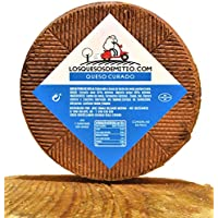 Queso de oveja curado gourmet de Losquesosdemitio, con caja de madera premium, 2kg