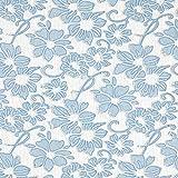 Fabulous Fabrics Spitze mit applizierten Jeans Blumen –