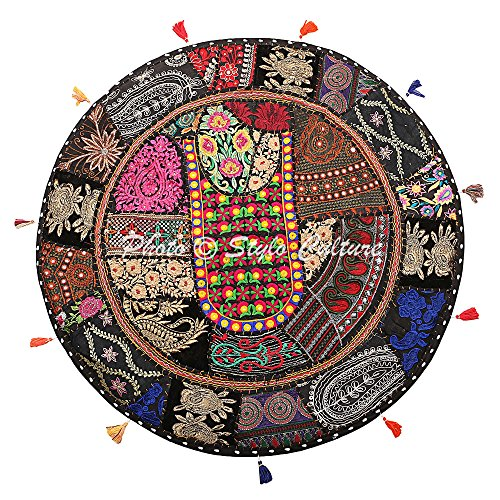 Stylo Culture Cojín de Piso de algodón étnico Vintage Bordado Patch