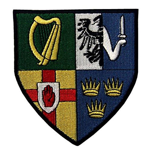 Irland Provinzen Shield Emblem irische Wappen Flagge gesticktes Eisen auf Sew auf Patch -