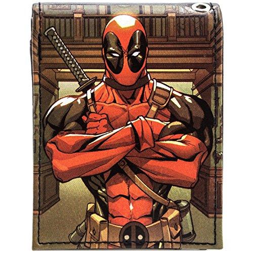Marvel Deadpool Voll animierte Figur Rot Portemonnaie Geldbörse