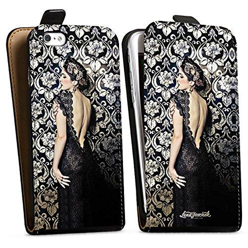 Apple iPhone X Silikon Hülle Case Schutzhülle Anna Karenina Mode Fashion Downflip Tasche schwarz
