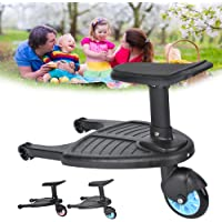 Buggy Board with Seat Standing Board for Buggy Pram Seat Removable and Assembling for Baby Jogger Travel Pram Pushchair(Blue)