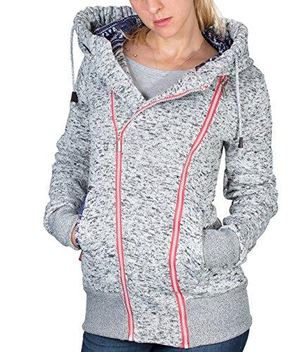 BetterStylz emmabz, Felpa Con Cappuccio Regular Fit Mezze Felpa con cappuccio e cerniera in div. (Fresh Air Hood)