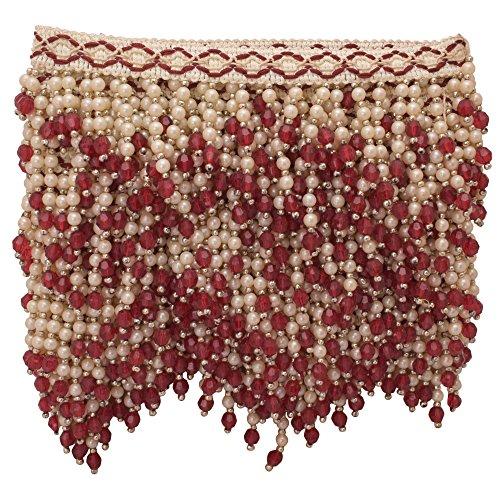SewLab Designer Nähen Trim Handwerk Versorgung Upholyestry Ribbon Golden Maroon Perlen Craft Trim 1 Yard -